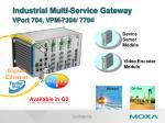 industrial multi service gateway vport 704 vpm 7304 7704