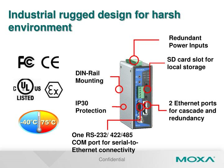 Industrial rugged design for harsh environment