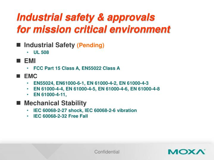 Industrial safety & approvals