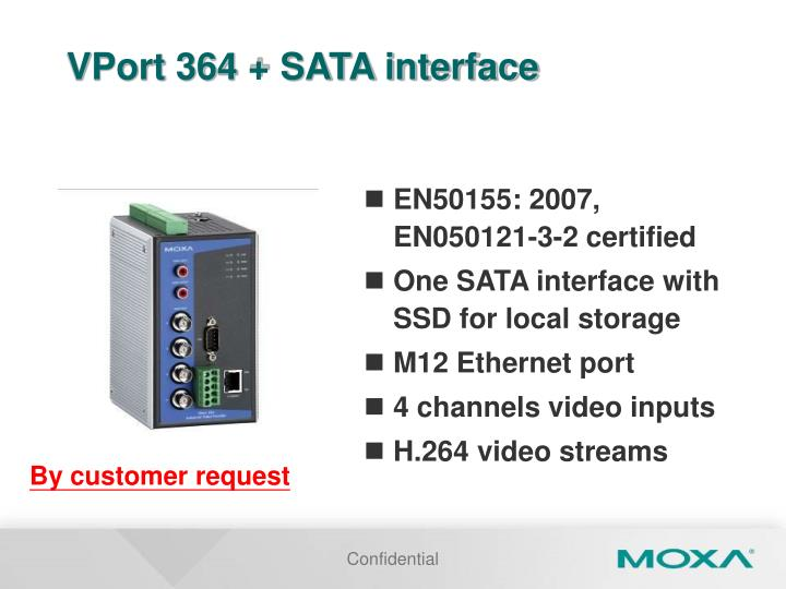 VPort 364 + SATA interface