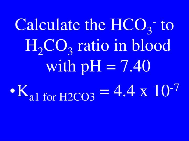 Calculate the HCO