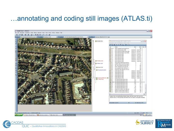…annotating and coding still images (ATLAS.ti)