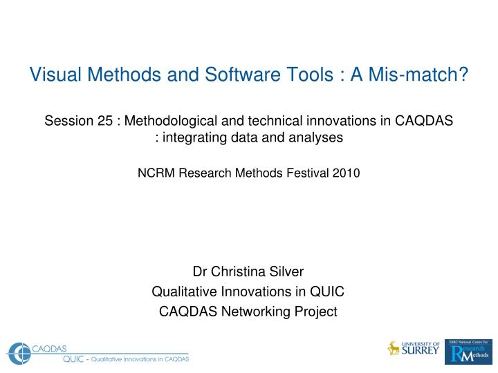 Dr christina silver qualitative innovations in quic caqdas networking project