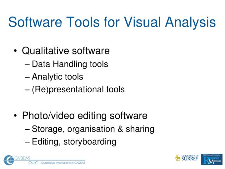 Software Tools for Visual Analysis