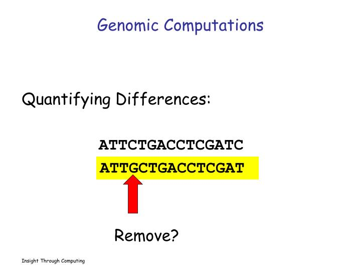 Genomic Computations