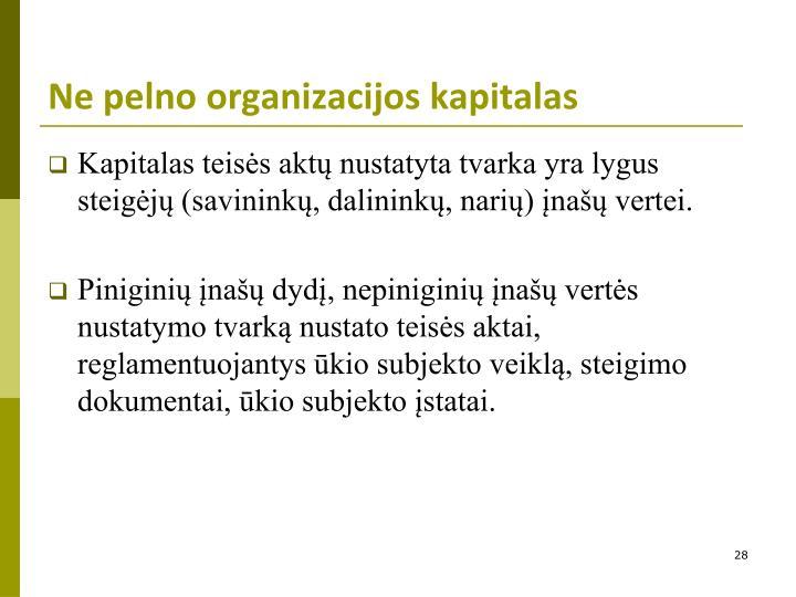 Ne pelno organizacijos kapitalas