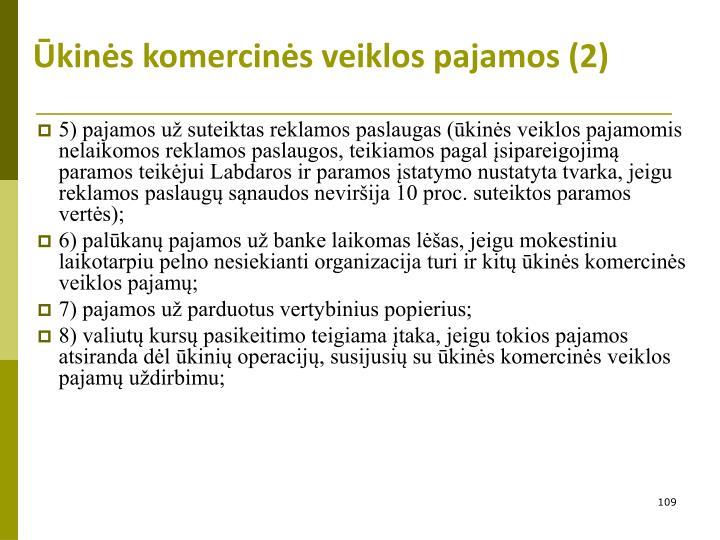 Ūkinės komercinės veiklos pajamos (2)