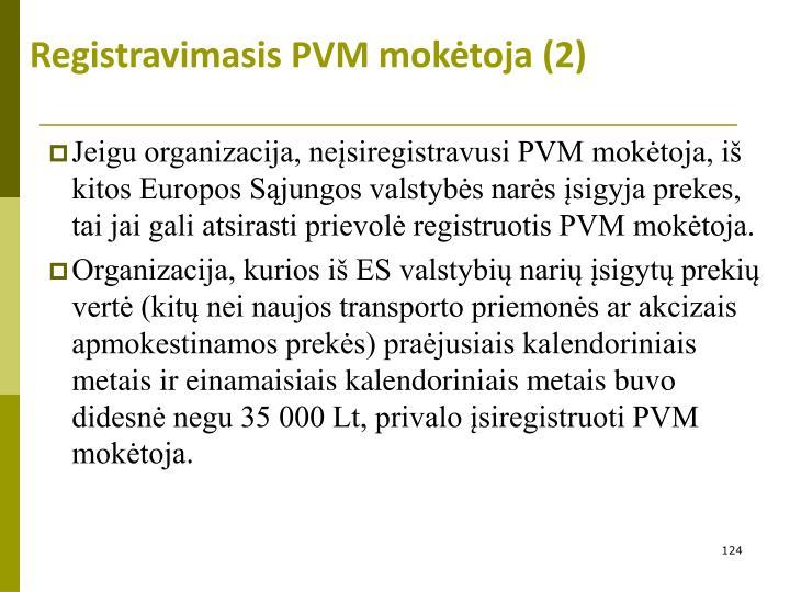 Registravimasis PVM mokėtoja (2)