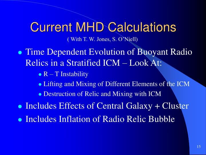 Current MHD Calculations
