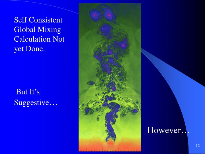 Self Consistent Global Mixing Calculation Not yet Done.
