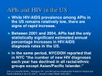 apis and hiv in the us