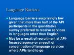 language barriers