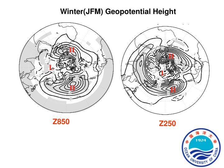 Winter(JFM) Geopotential Height