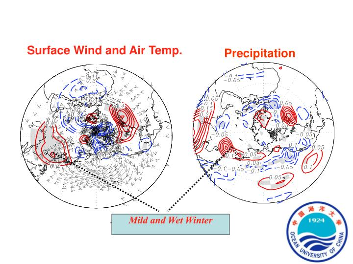 Surface Wind and Air Temp.