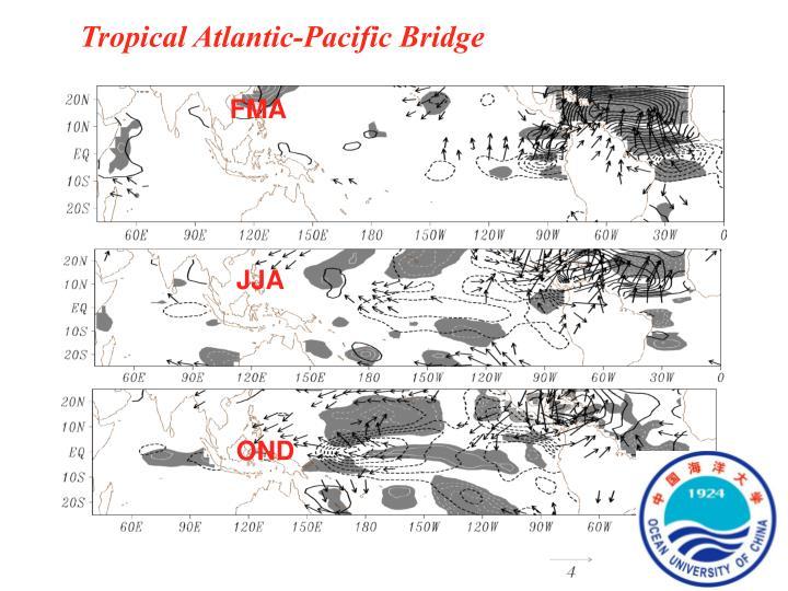 Tropical Atlantic-Pacific Bridge