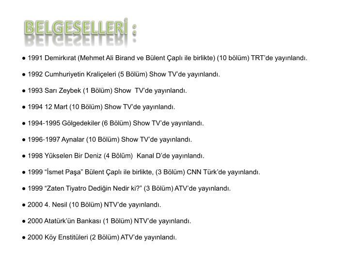 BELGESELLERİ :