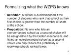 formalizing what the wzpg knows