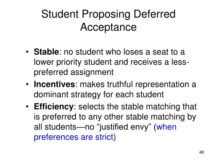 Student Proposing Deferred Acceptance