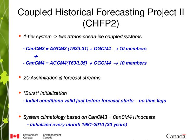 Coupled Historical Forecasting Project II (CHFP2)