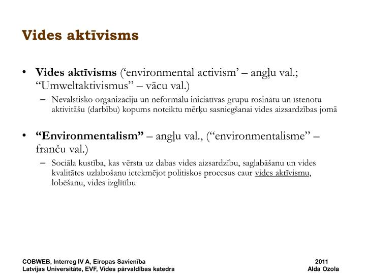 Vides aktīvisms