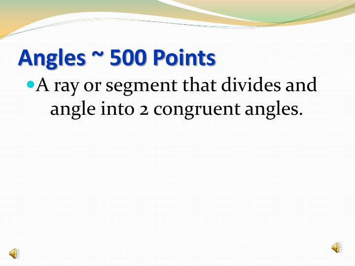 Angles ~ 500 Points
