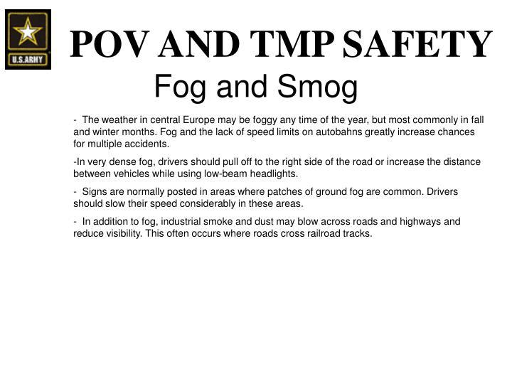 Fog and Smog