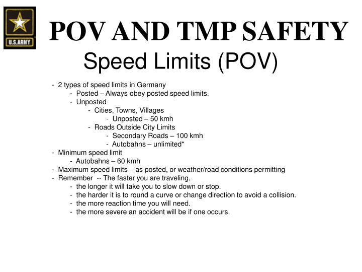 Speed Limits (POV)