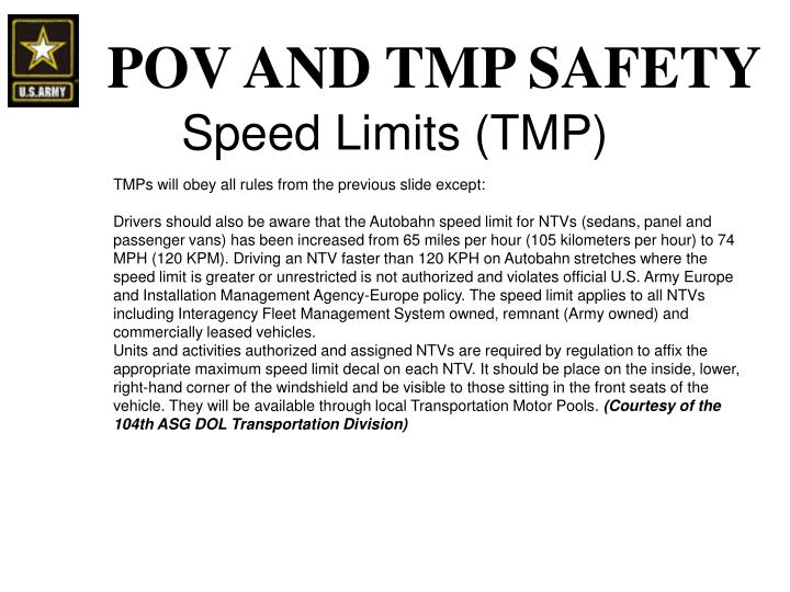 Speed Limits (TMP)