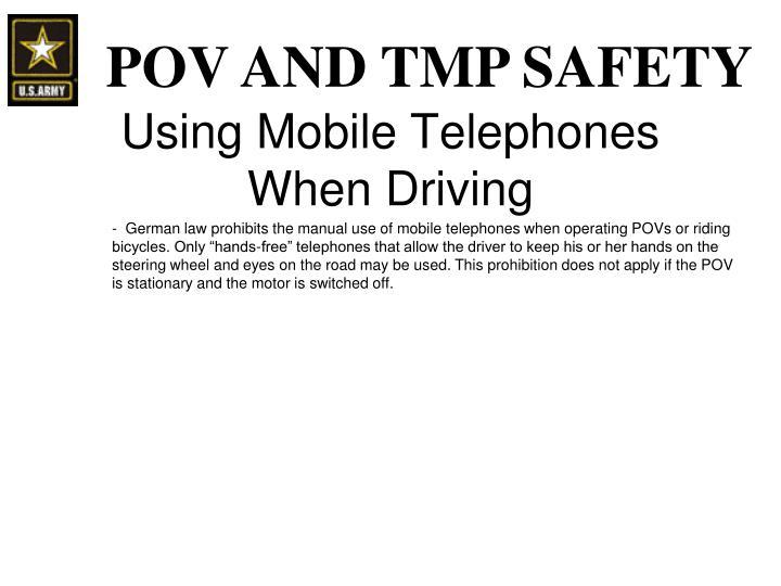 Using Mobile Telephones