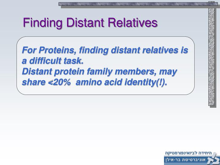 Finding Distant Relatives