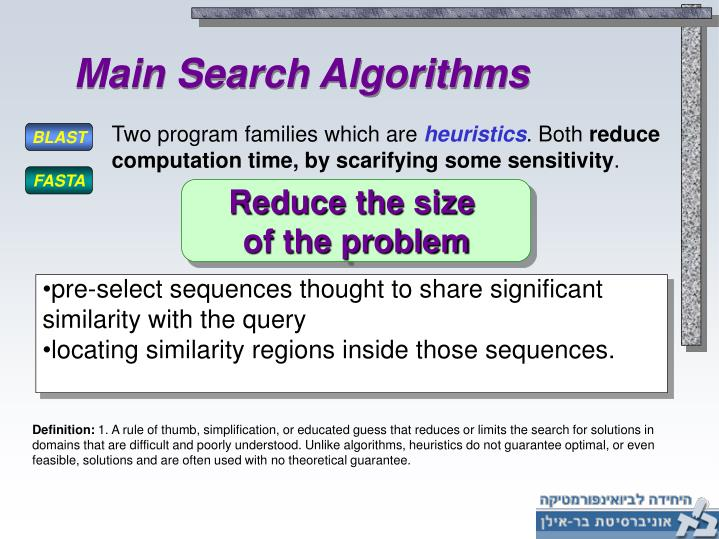 Main Search Algorithms