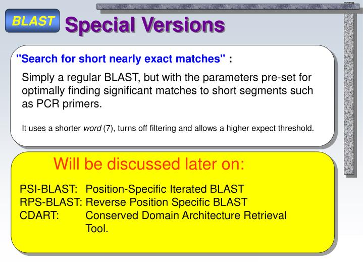 """Search for short nearly exact matches"""
