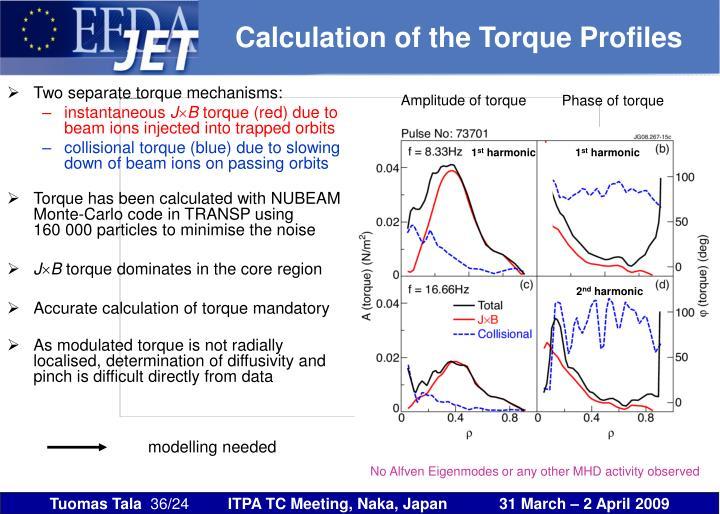 Calculation of the Torque Profiles