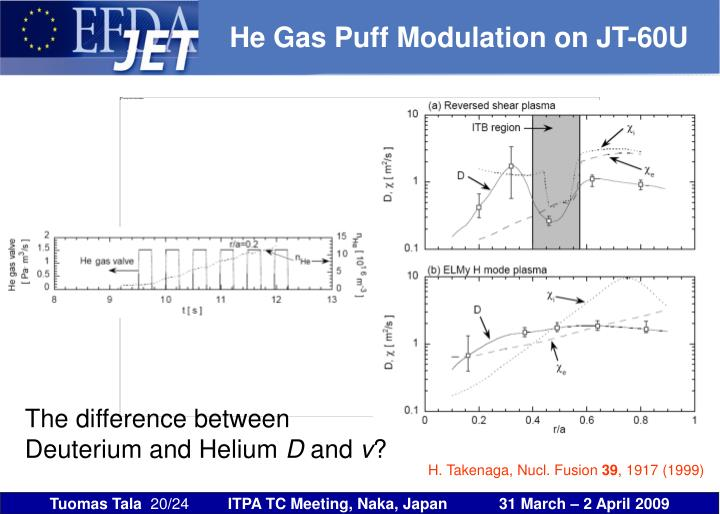 He Gas Puff Modulation on JT-60U