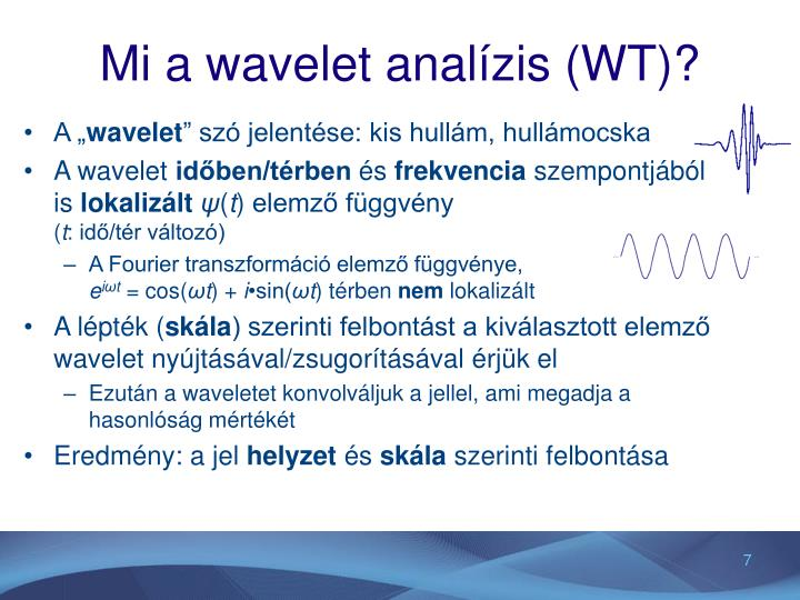 Mi a wavelet analízis (WT)?