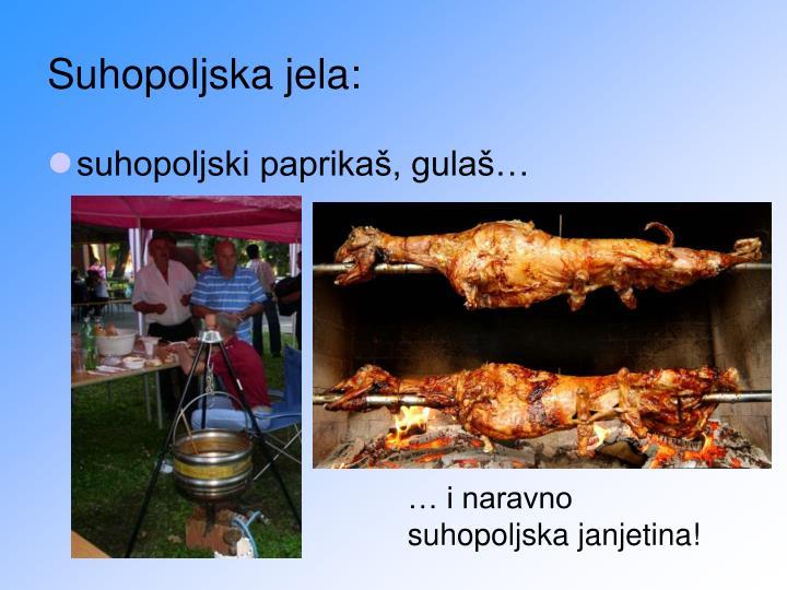 Suhopoljska jela: