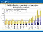 3 la distribuci n secundaria en argentina