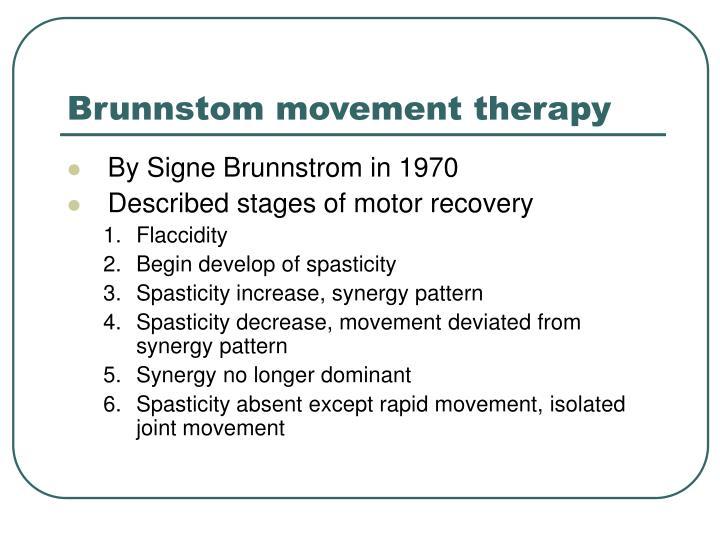 Brunnstom movement therapy