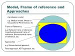 model frame of reference and approaches