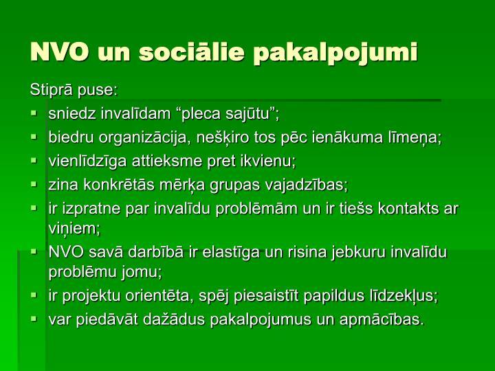NVO un sociālie pakalpojumi