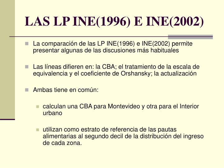 LAS LP INE(1996) E INE(2002)
