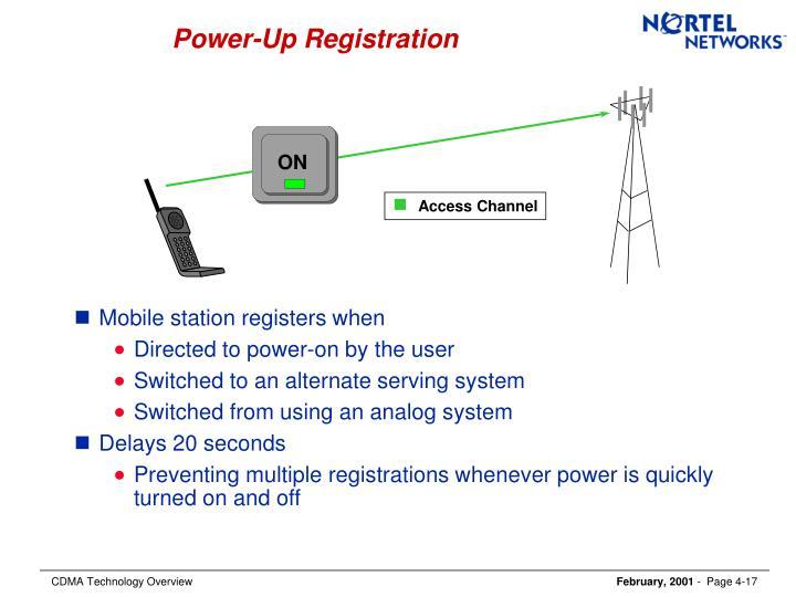 Power-Up Registration