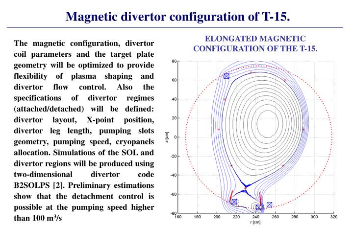 Magnetic divertor configuration of T-15.