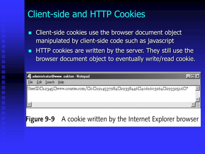 Client-side and HTTP Cookies