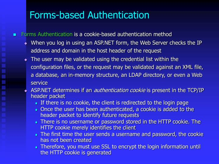 Forms-based Authentication