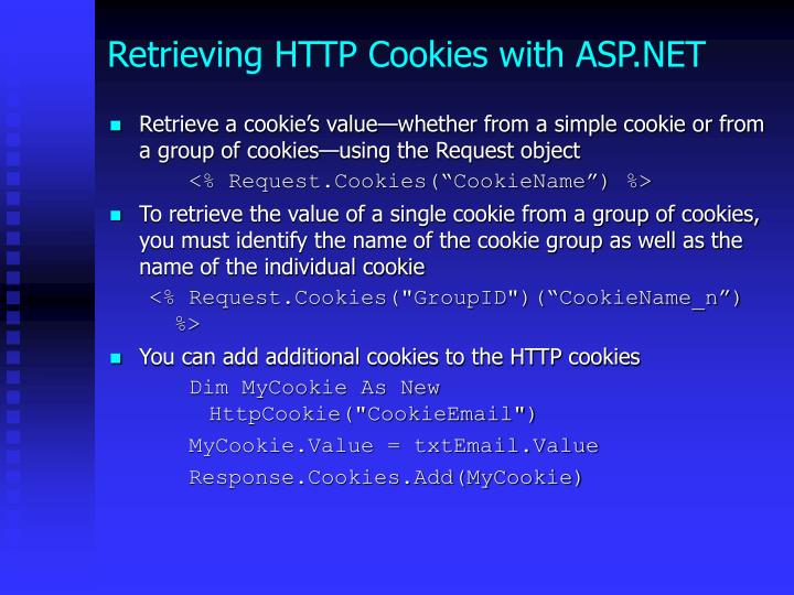 Retrieving HTTP Cookies with ASP.NET
