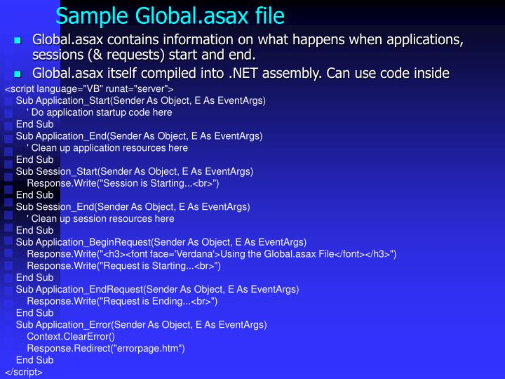 Sample Global.asax file