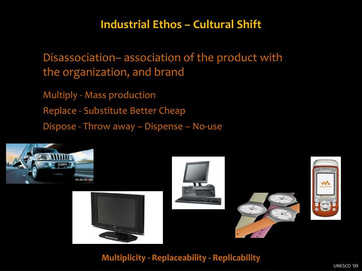 Industrial Ethos – Cultural Shift