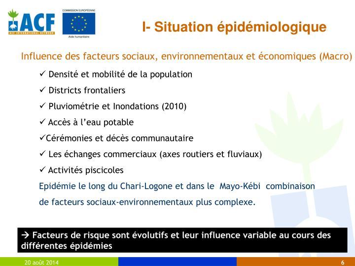 I- Situation épidémiologique