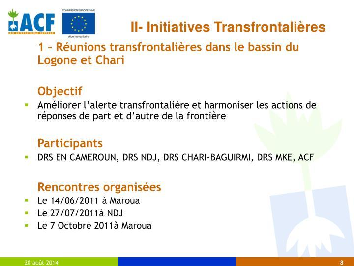 II- Initiatives Transfrontalières